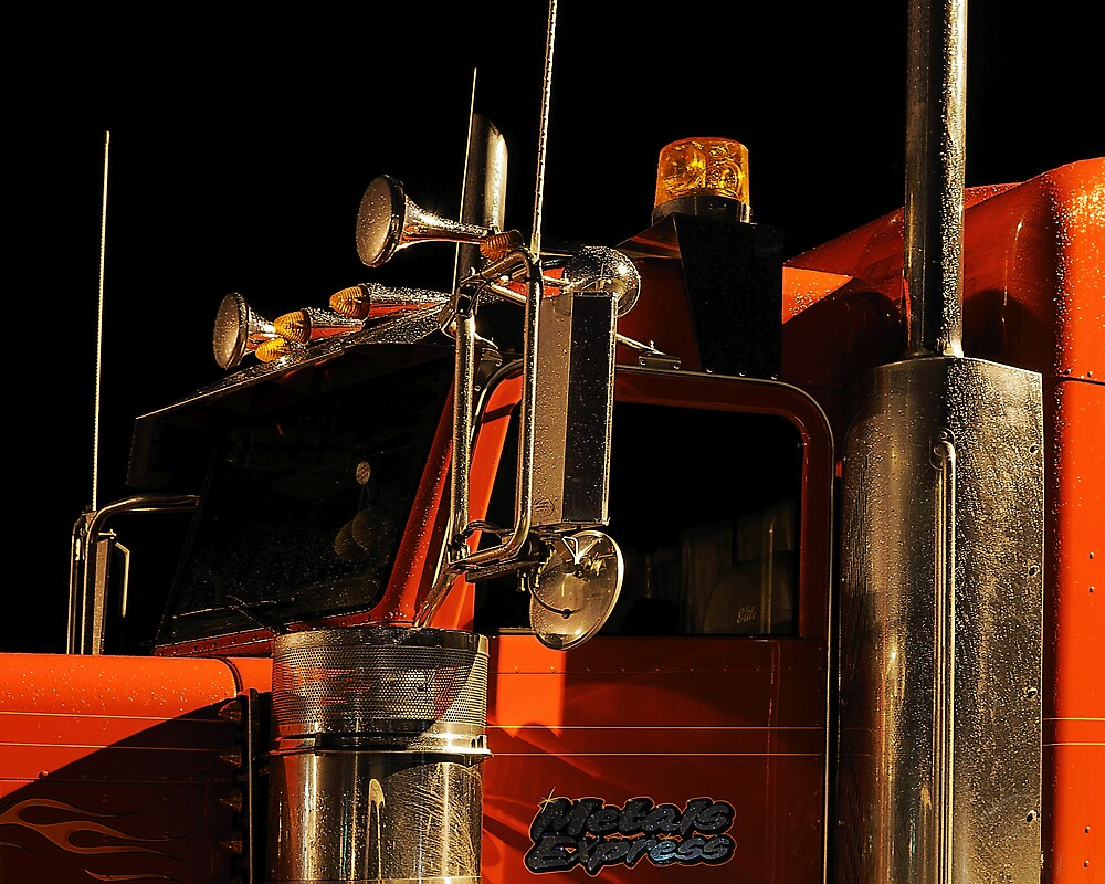 """""""a red [truck] / glazed with rain water"""" by r0semarie"""