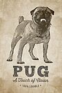 Pug A Touch of Clown by Edward Fielding