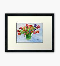 Short Stem Tulips Framed Print