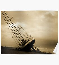 The Eendracht aground in Seaford Bay Poster