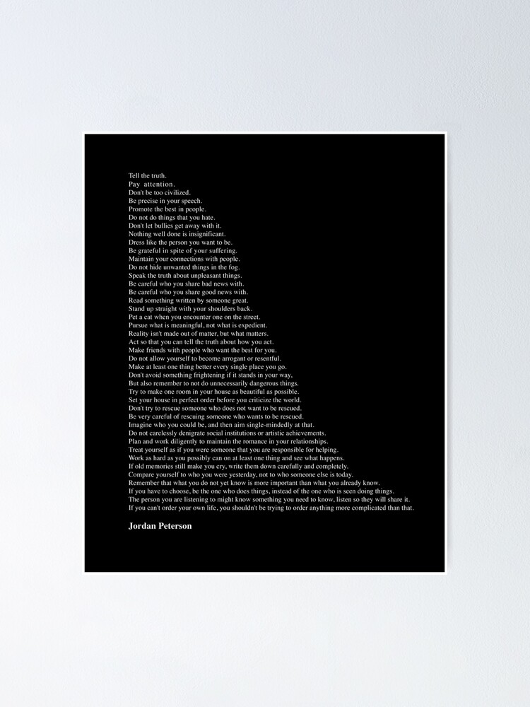 Alternate view of Quotes by Jordan Peterson Poster