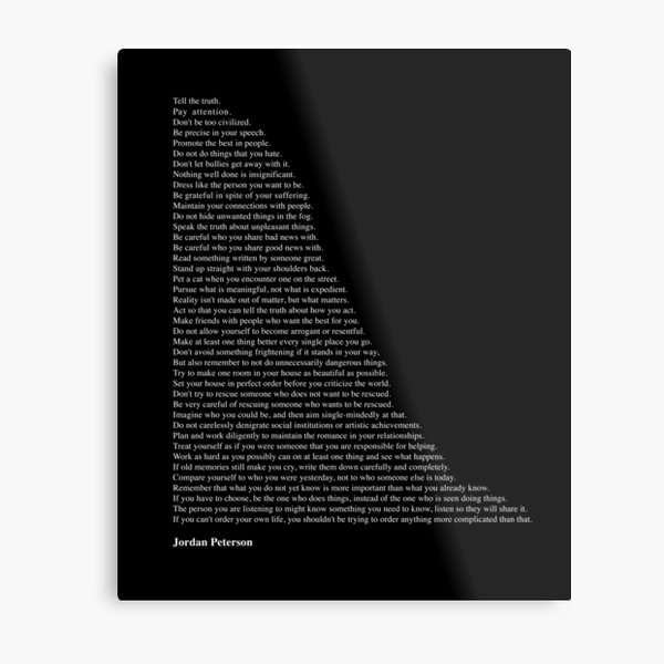Citations de Jordan Peterson Impression métallique