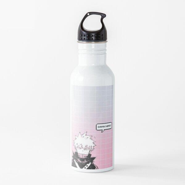 "MHA: Bakugou ""damn nerd"" Water Bottle"