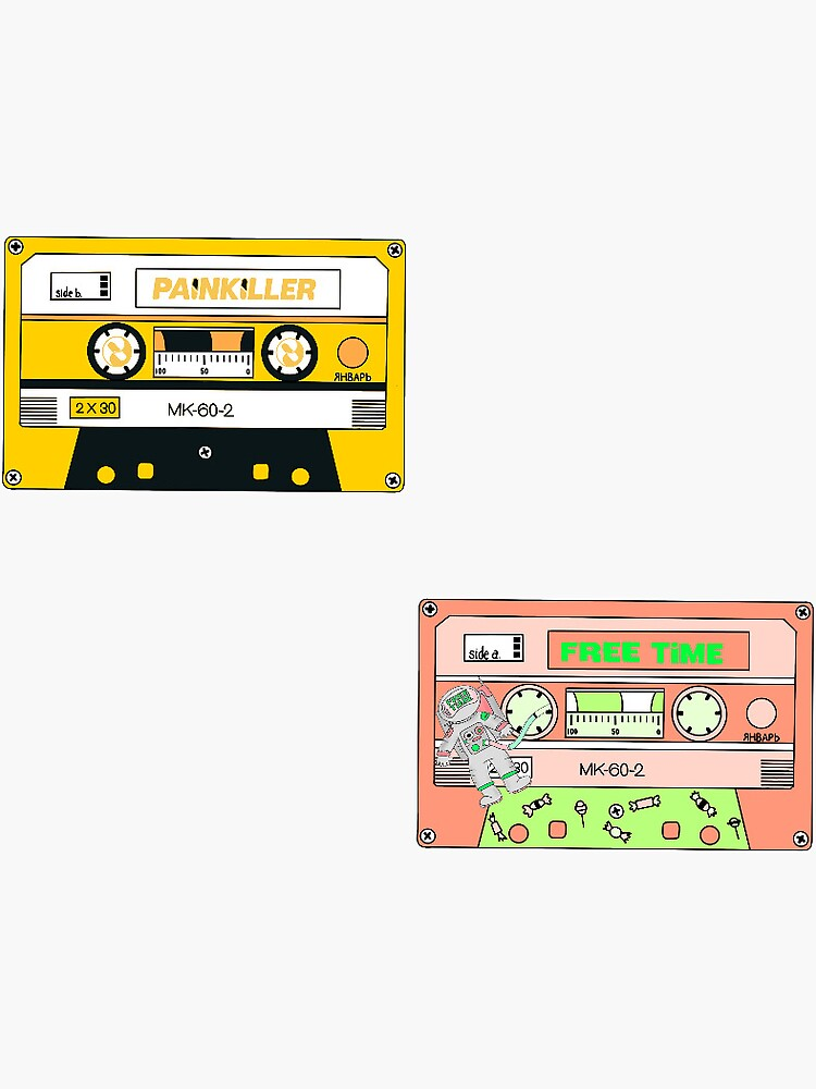 free time and painkiller cassette tape duo  by laurenfitz
