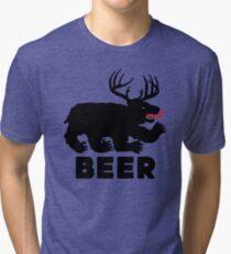 BEER = Bear + Deer Tri-blend T-Shirt