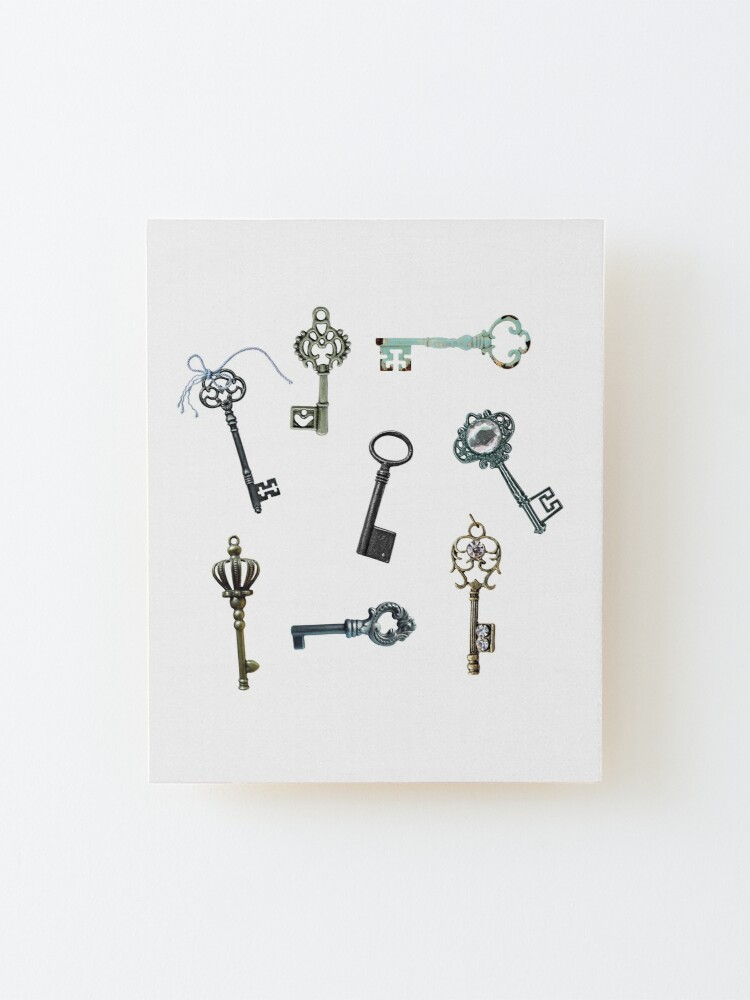 Alternate view of Vintage Keys Steampunk Theme Mounted Print