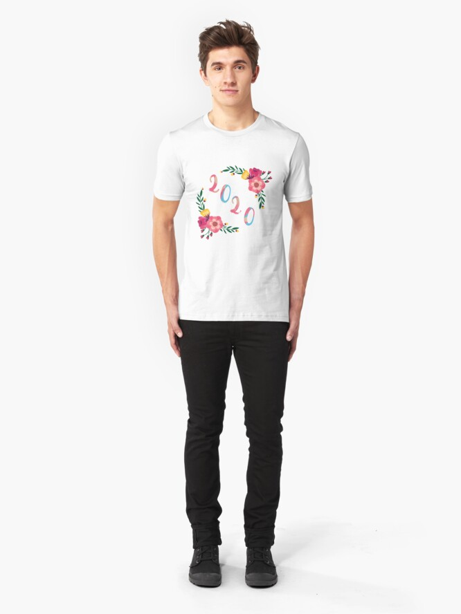 Alternate view of Happy New Year 2020 Slim Fit T-Shirt