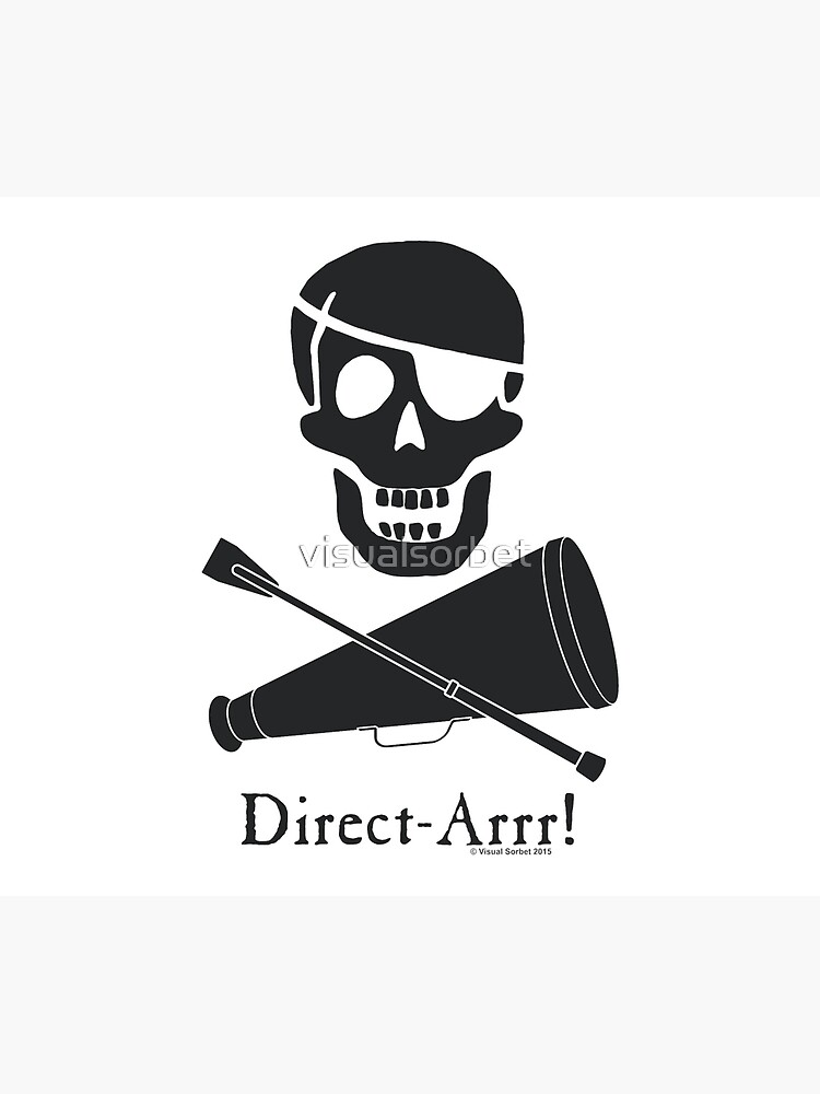 Direct-Arrr! Black Design by visualsorbet