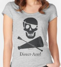 Direct-Arrr! Black Design Women's Fitted Scoop T-Shirt