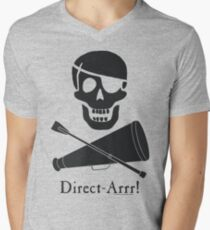 Direct-Arrr! Black Design Men's V-Neck T-Shirt