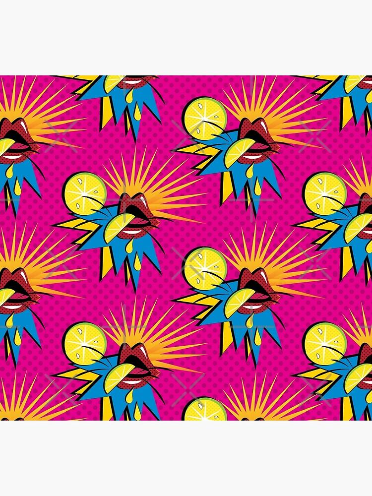 Sour Citrus Splash Pop Art by CreativeContour
