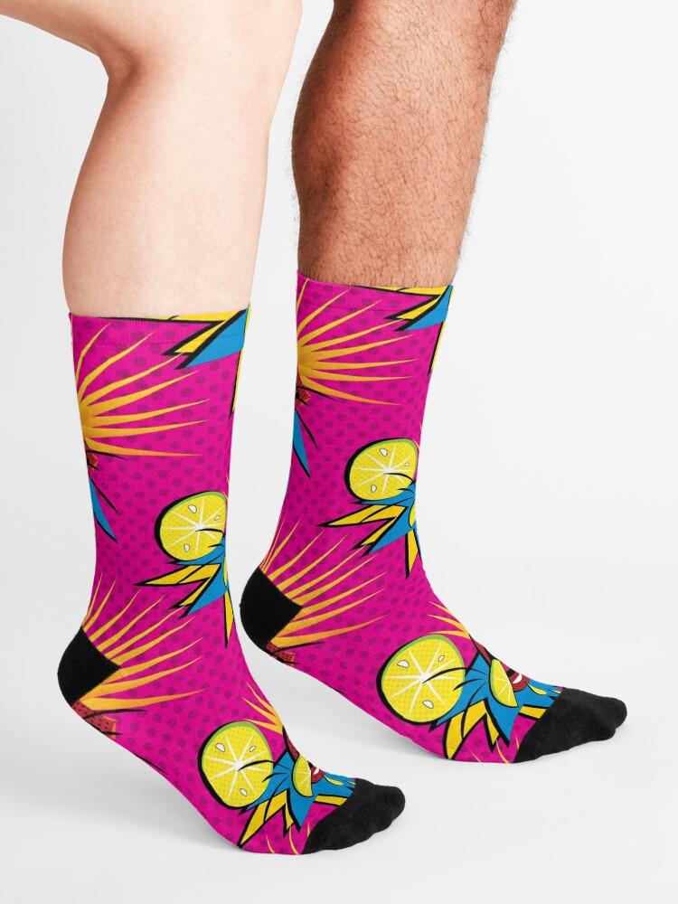 Alternate view of  Sour Citrus Splash Pop Art Socks