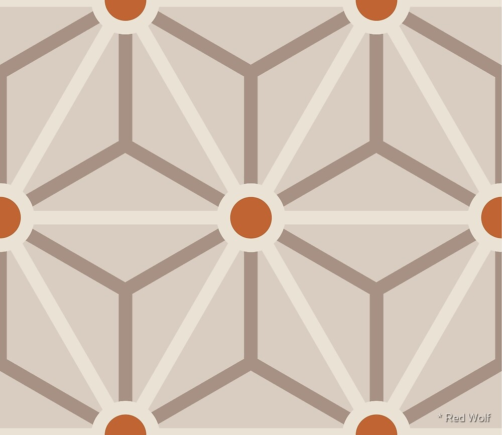 Geometric Pattern: Art Deco Star: Rugby by * Red Wolf
