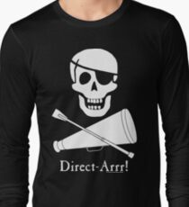 Direct-Arrr! White Design Long Sleeve T-Shirt