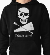 Direct-Arrr! White Design Pullover Hoodie