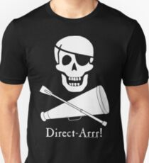Direct-Arrr! White Design Unisex T-Shirt
