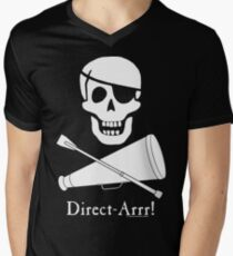 Direct-Arrr! White Design Men's V-Neck T-Shirt