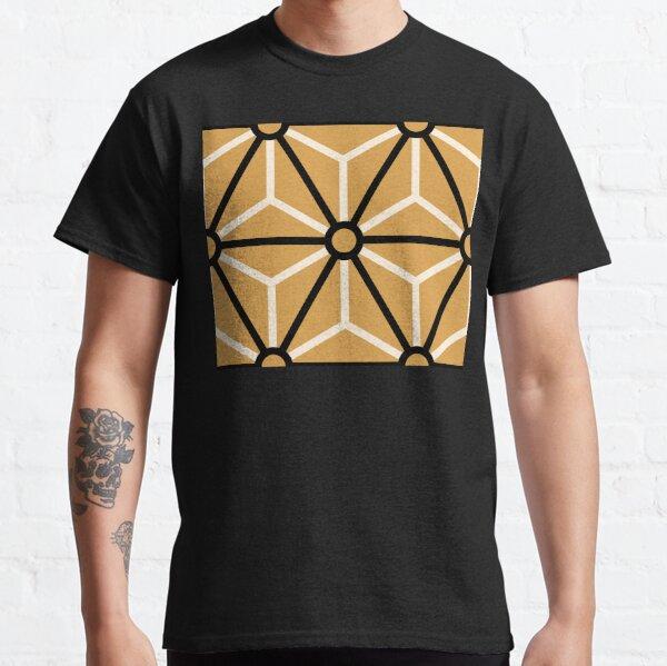 Geometric Pattern: Art Deco Star: Black/Cream/Gold Classic T-Shirt