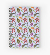 Orchids and Ink (Flowers)  Spiral Notebook