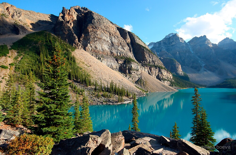 moraine lake  in canada by milena boeva