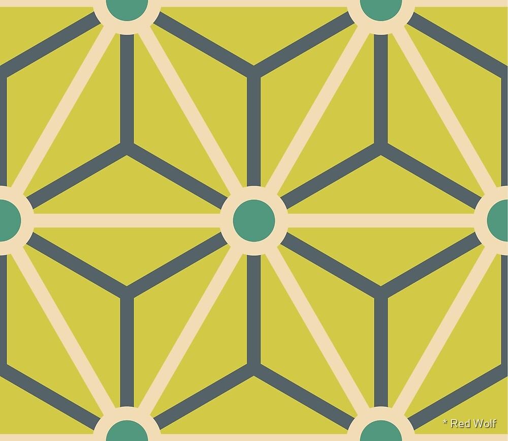 Geometric Pattern: Art Deco Star: Lorikeet by * Red Wolf