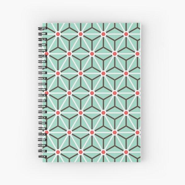 Geometric Pattern: Art Deco Star: Mint Spiral Notebook