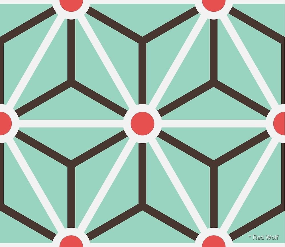 Geometric Pattern: Art Deco Star: Mint by * Red Wolf