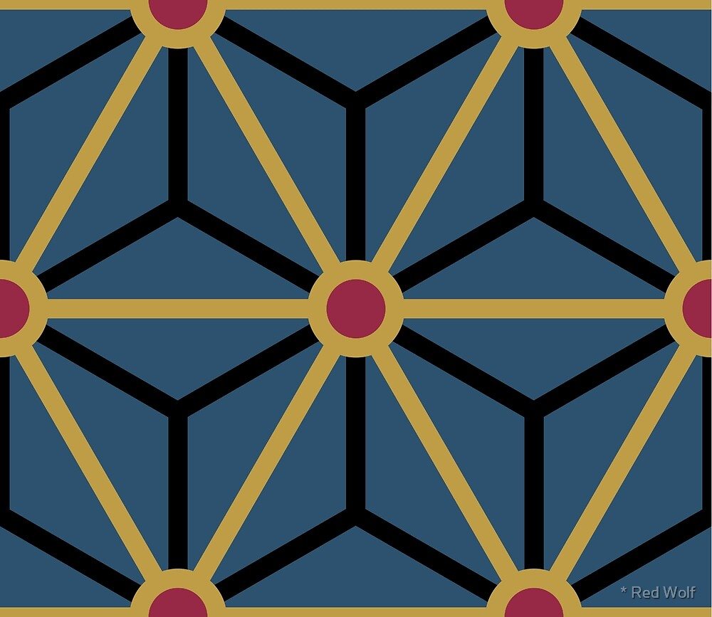 Geometric Pattern: Art Deco Star: Morocco by * Red Wolf