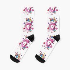 9th Birthday Unicorn Lover for 9 Year Olds Socks