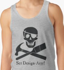 Set Design-Arrr! Black Design Tank Top
