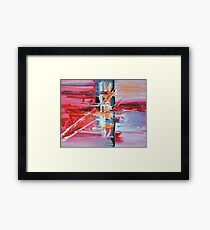 Red Rays Framed Print