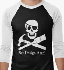 Set Design-Arrr! White Design Baseball ¾ Sleeve T-Shirt
