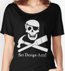 Set Design-Arrr! White Design Women's Relaxed Fit T-Shirt