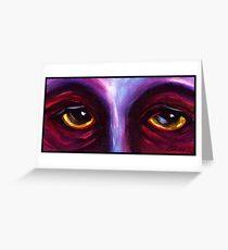 Purple Eyes Greeting Card