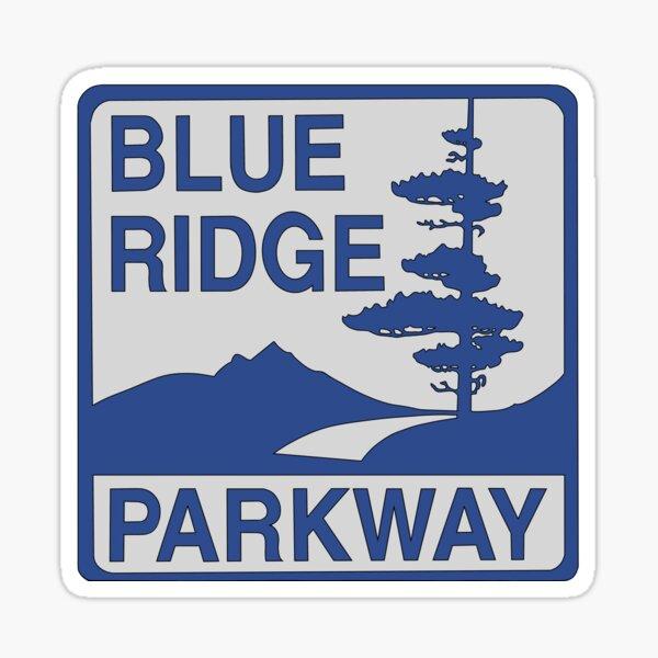 "panneau bleu foncé ""Blue Ridge Parkway"" Sticker"