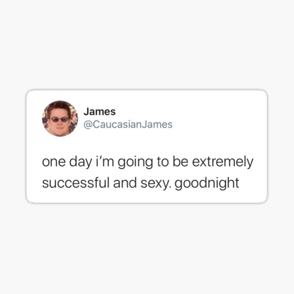 Caucasian James Tweet Sticker