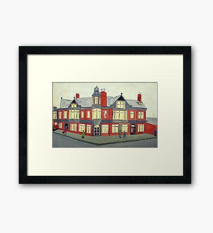 012 - NORTH SEATON HOTEL, ASHINGTON - DAVE EDWARDS - POSTER PAINTS - 1967  Framed Print