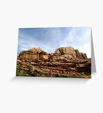 Rock Formations of the Grand Wash Greeting Card