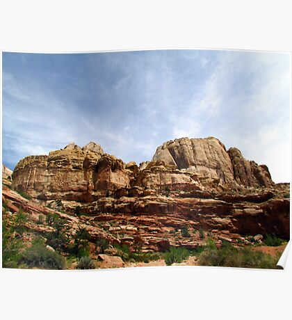 Rock Formations of the Grand Wash Poster