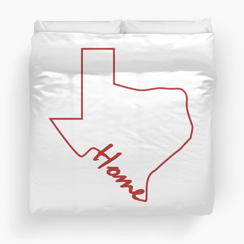 Texas map Duvet Cover