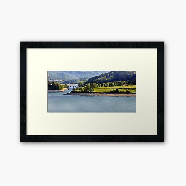Lac de Gruyére Framed Art Print