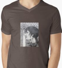 Waiting For News Men's V-Neck T-Shirt