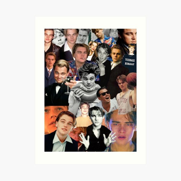 Leonardo Dicaprio Collage Art Print