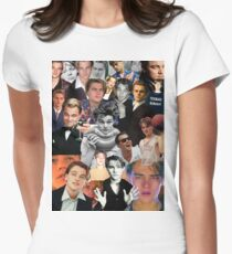 Leonardo Dicaprio Collage Women's Fitted T-Shirt