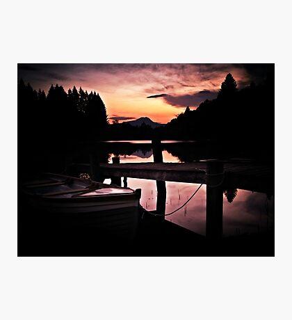 Loch Ard, Spring Sunset. Photographic Print