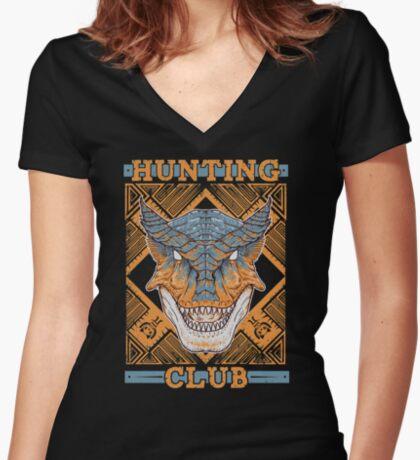 Hunting Club: Tigrex Women's Fitted V-Neck T-Shirt