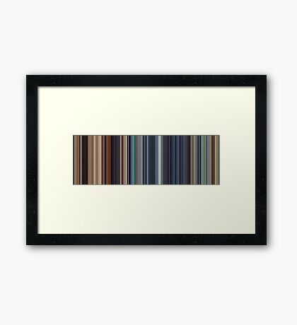 Moviebarcode: WALL·E (2008) [Simplified Colors] Framed Print