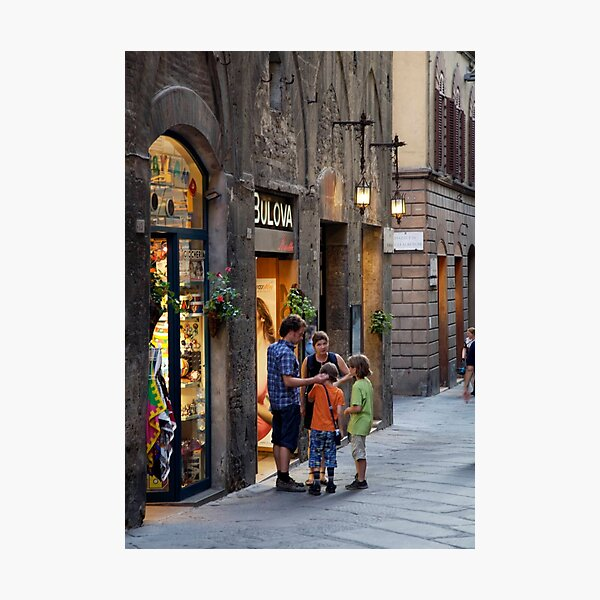 peoplescapes #272, outside bulova Photographic Print
