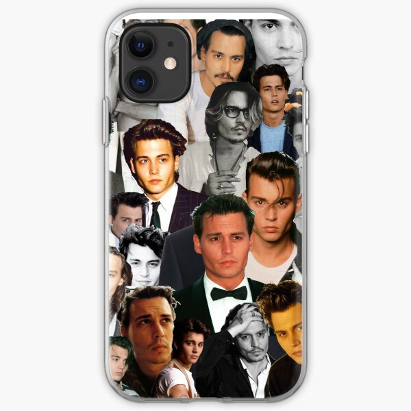Johnny Depp Collage iPhone Soft Case