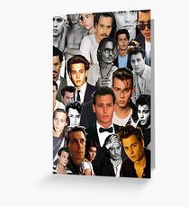 Johnny Depp Collage Greeting Card